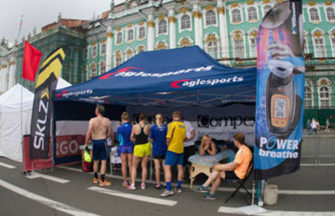 Eaglesports тейпировал участников марафона
