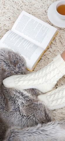 Носки с косами из Gruendl Hot Socks Uni 150