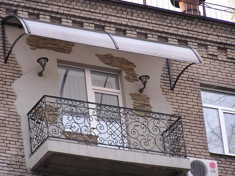 Защитные козырьки для балкона