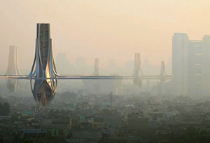 Смог Дели поглотят гигантские воздухоочистители