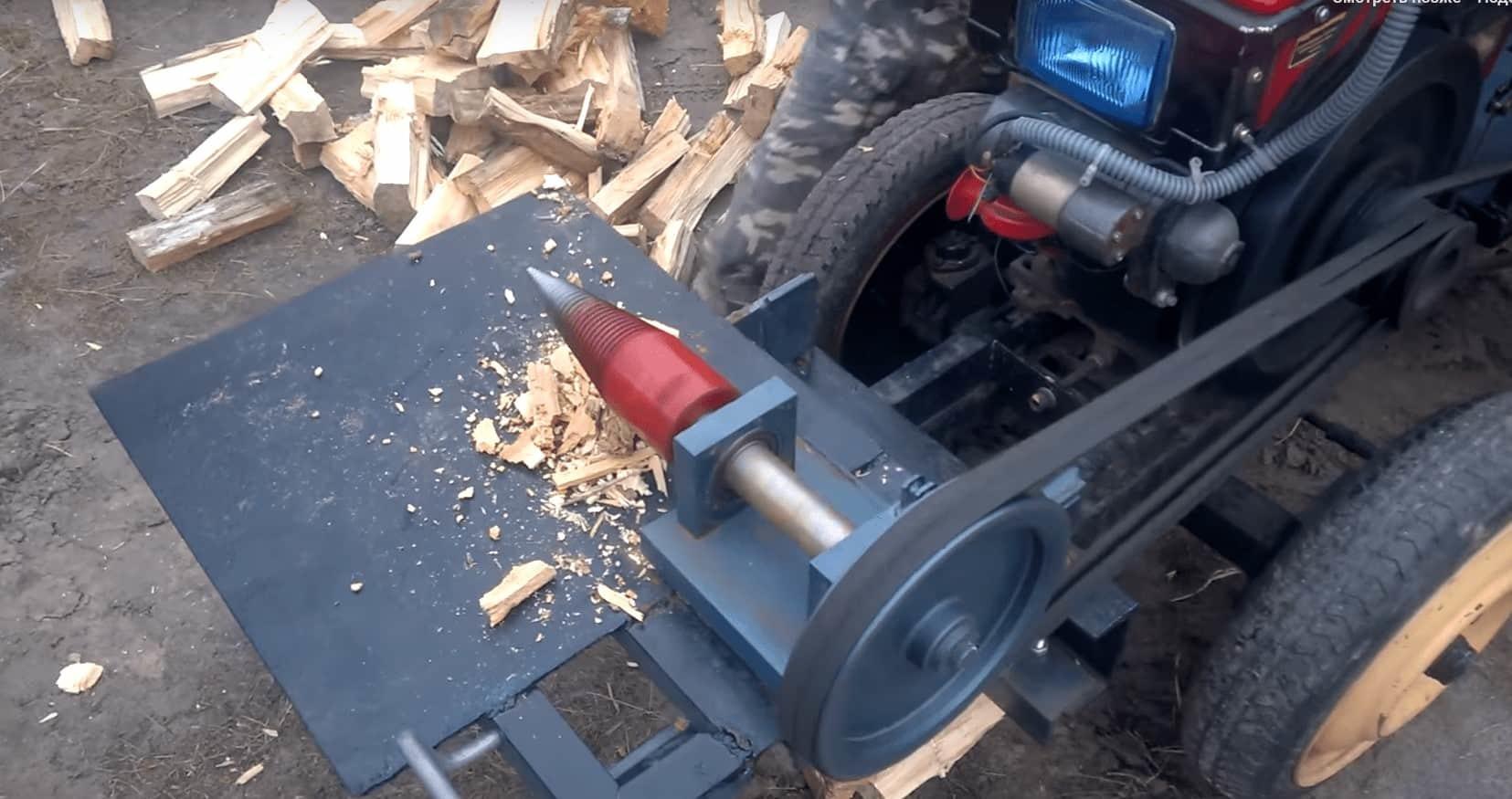 Винтовой дровокол на мототрактор