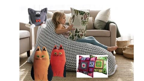 Вязаные подушки. Обычные и весьма необычные.