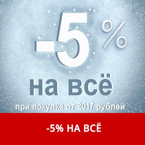 В честь Старого Нового года, скидка -5% НА ВСЁ .