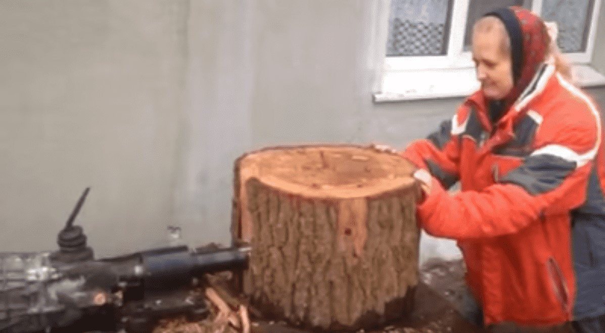 Электрический дровокол-морковка+коробка скоростей+баба