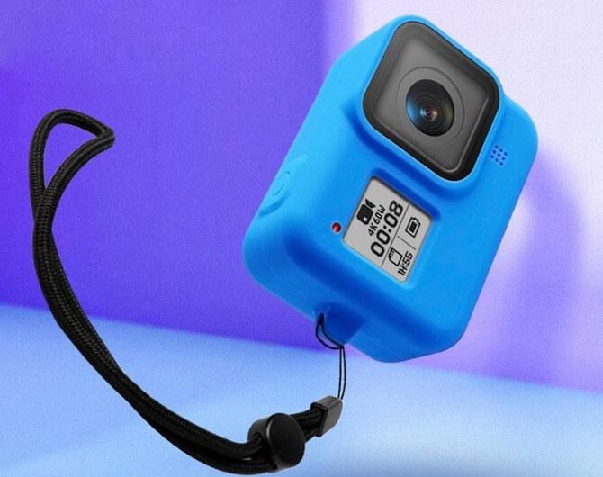 Силиконовый чехол с ремешком для камеры GoPro HERO8 (Sleeve + Lanyard)
