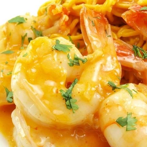 Готовое блюдо — Карри с креветками