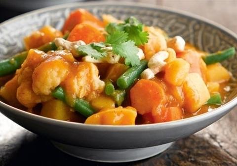 Готовое блюдо — Остро-кислый суп кэнг-сом