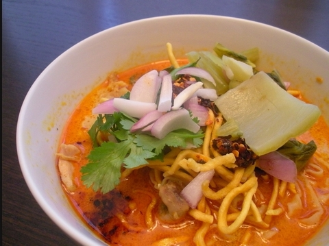 Готовое блюдо — Лапша с курицей по-тайски