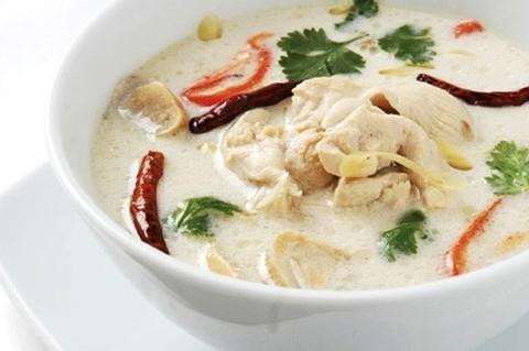 Готовое блюдо — Суп Том кха гаи (экспресс-метод)