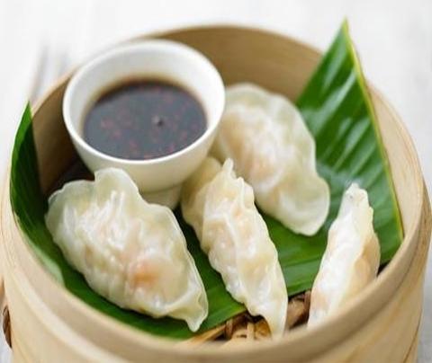 Готовое блюдо — Дим сам с побегами бамбука