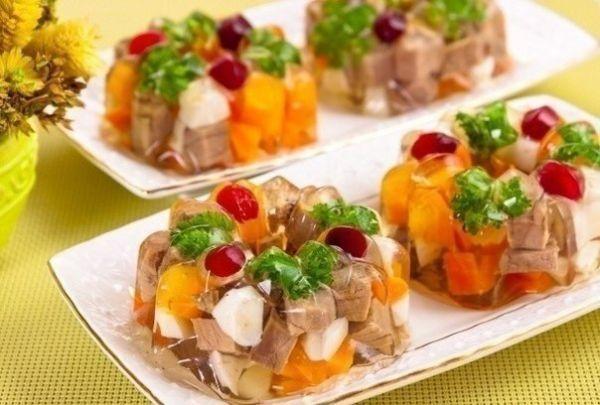 Оригинальные варианты мясного желе для фуршетов или праздничного стола