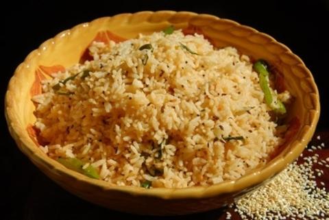 Готовое блюдо — Рис с кунжутом