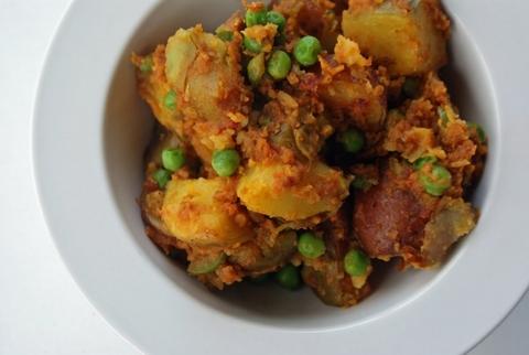Готовое блюдо — Картофель карри