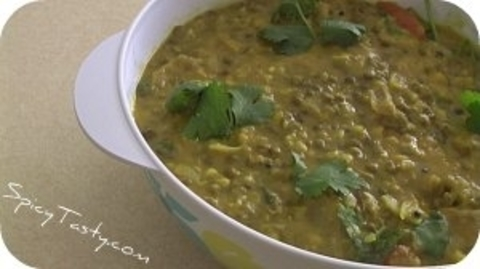 Готовое блюдо — Индийский зеленый дал