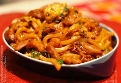 Готовое блюдо — Лапша удон с курицей или тофу