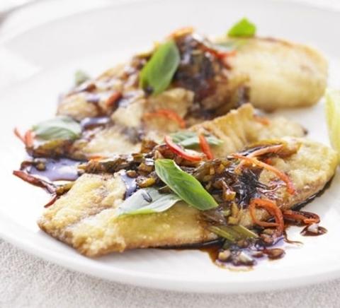Готовое блюдо — Рыба в тамариндовом соусе