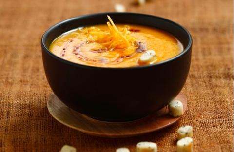 Готовое блюдо — Крем-суп из тыквы