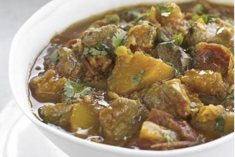 Готовое блюдо — Дхансак-карри с бараниной