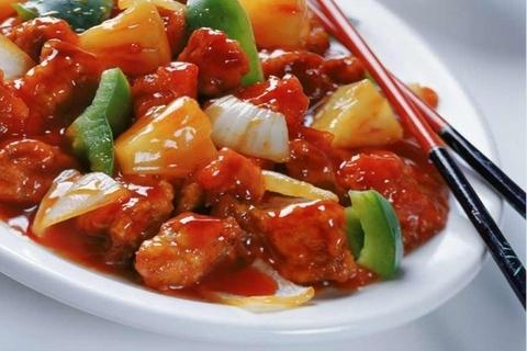 Готовое блюдо — Курица в кисло-сладком соусе