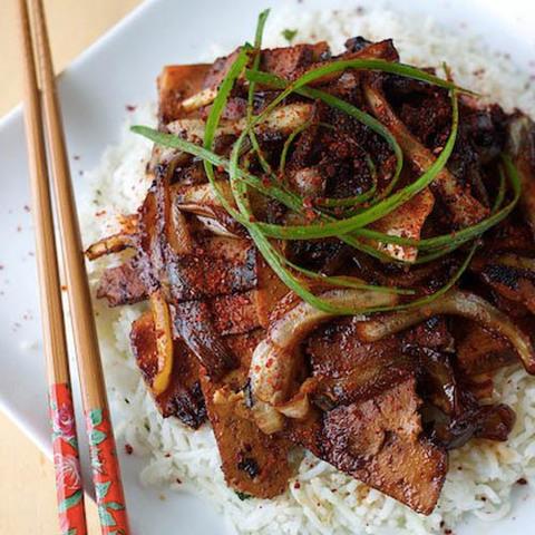 Готовое блюдо — Овощи с тофу по-корейски