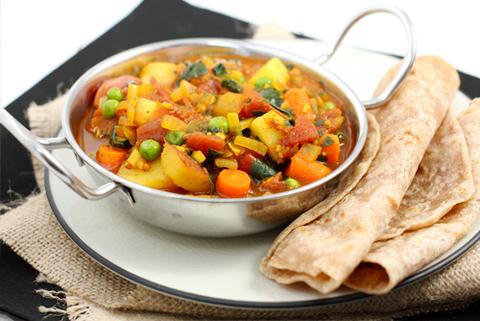 Готовое блюдо — Овощное индийское карри