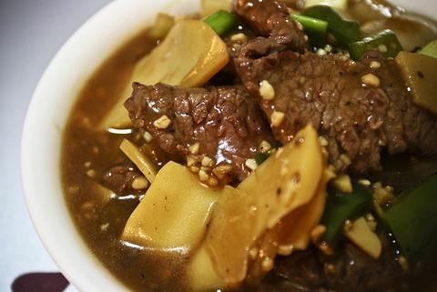Готовое блюдо — Мясная поджарка с побегами бамбука