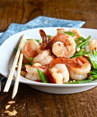 Готовое блюдо — Креветки в сладком чили-соусе