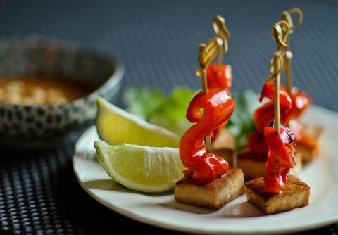 Готовое блюдо — Шашлычки из тофу