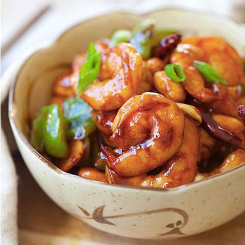 Готовое блюдо — Креветки кунг пао