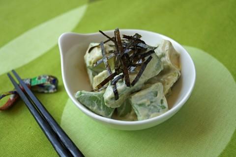 Готовое блюдо — Японский салат из авакадо с васаби
