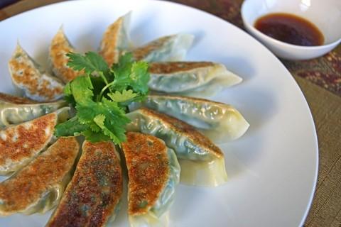 Готовое блюдо — Пельмени гиоза с креветками