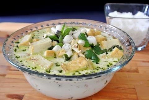 Готовое блюдо — Корни лотоса с тофу