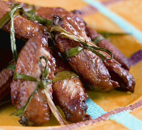 Готовое блюдо — Куриные крылышки в сливовом маринаде