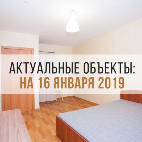 АКТУАЛЬНЫЕ ОБЪЕКТЫ НА 16 ЯНВАРЯ 2019