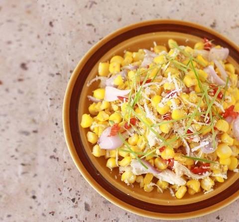 Готовое блюдо — Оригинальный салат из кукурузы