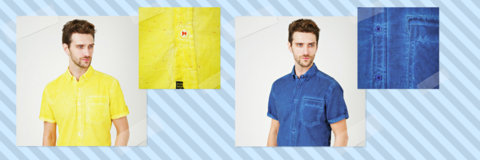 Рубашки, окрашенные по технологии Cold Pigment