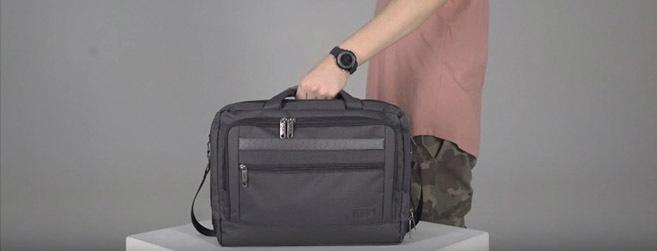 Видео обзор сумки под ноутбук Бизнес - Bagland
