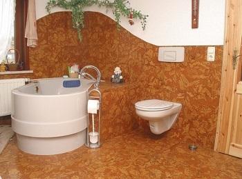 Пробковый пол для ванных комнат