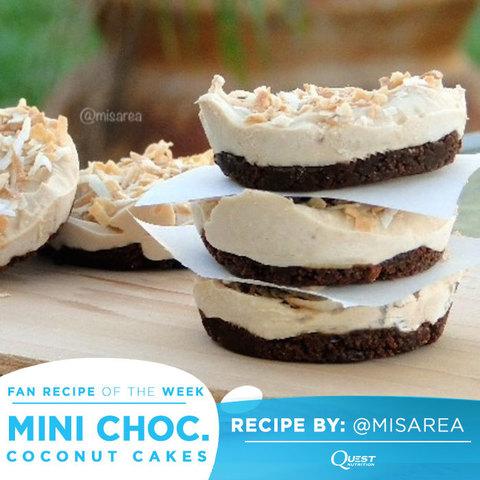 Рецепт! Шоколадные мини-пирожные с кокосом #CheatClean