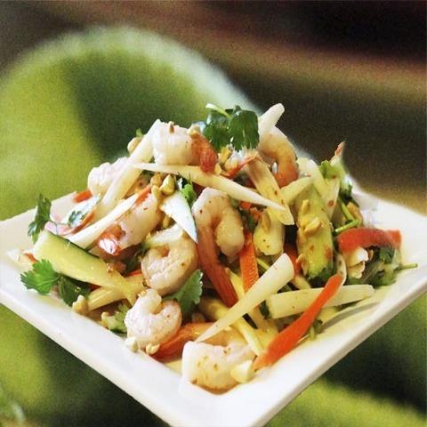 Готовое блюдо — Салат из лотоса и креветок
