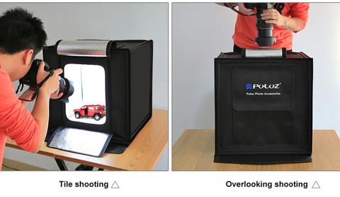 Обзор на фотобоксы для предметной съемки PULUZ