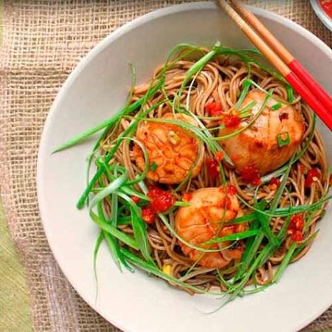 Готовое блюдо — Гребешки в кисло-сладком соусе с собой