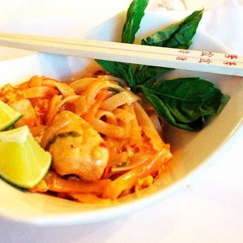 Готовое блюдо — Пинангская лапша с креветками