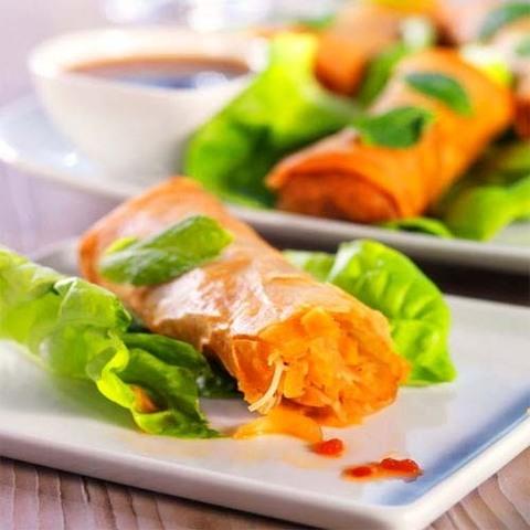 Готовое блюдо — Хрустящие овощные спринг-роллы