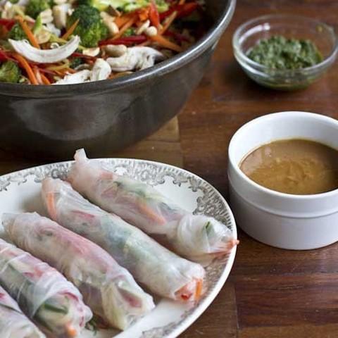 Готовое блюдо — Спринг-роллы из рисовой бумаги