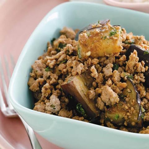 Готовое блюдо — Тайские баклажаны со свининой