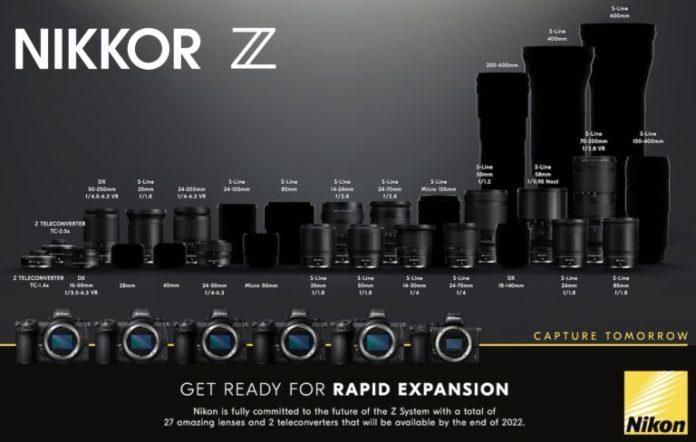 Nikon представят 12 новых объективов Z-mount в 2021 году