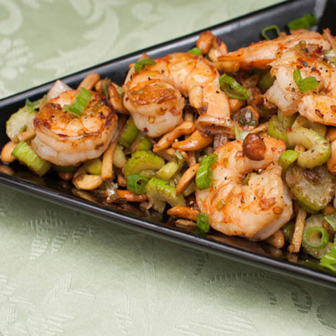 Готовое блюдо — Креветки по-гуандунски с кешью