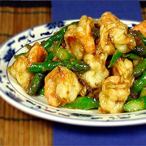 Готовое блюдо — Креветки со спаржей по-пекински