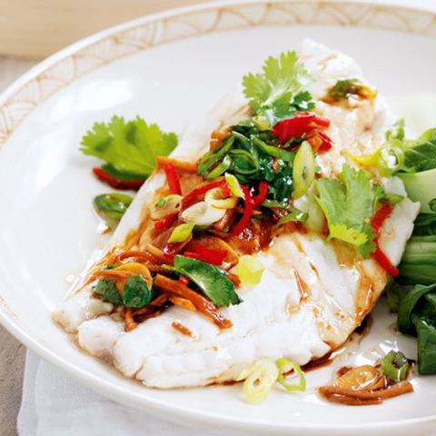 Готовое блюдо — Рыба на пару по-тайски